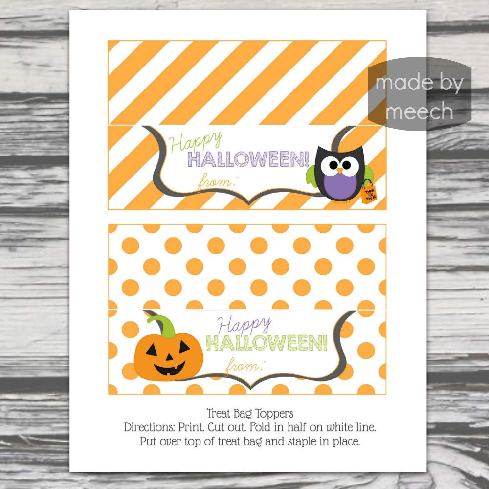 Printable Treat Bag Toppers | just b.CAUSE