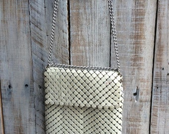 Whiting and Davis - whiting davis mesh bag, clutch, purse, bags, mesh purse, metal bag - Vintage - small mesh bags