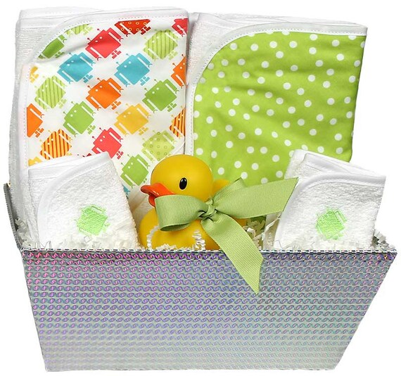 Baby Gift Bath Sets : Items similar to wild about prints baby bath gift set