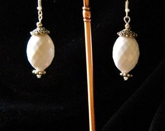 Last Snows Of Winter Dangle Earrings
