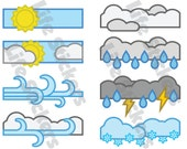 Weather Stickers!!! These are made to fit in the Erin Condren life planner. Made with premium vinyl. Stay organized with Life Stickers.