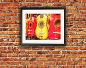 Art Print-Music Art, guitar art, acoustic guitar,wall decor,wall art,home decor,strings,8x10,11x14