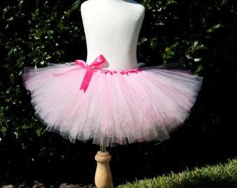 Pretty Pink Girls Tulle Tutu Skirt