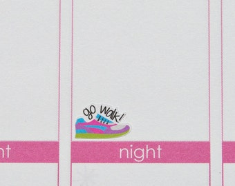 Running Walking Exercise Planner Stickers -  Shoes {FHB001}