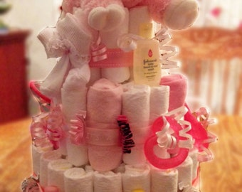Customized Lamb Diaper Cake