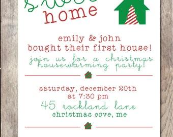 Weihnachten Housewarming Party Einladung Einweihungsparty Einladung, Unser  Neues Zuhause, Weihnachten Einweihungsparty Einladen, Christmas