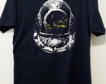 Old Diver's Helmet with Night Sky Reflection Shirt - Divers Shirt