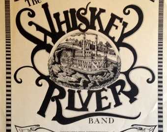 Vintage Whiskey Rivers Band Concert Poster 03