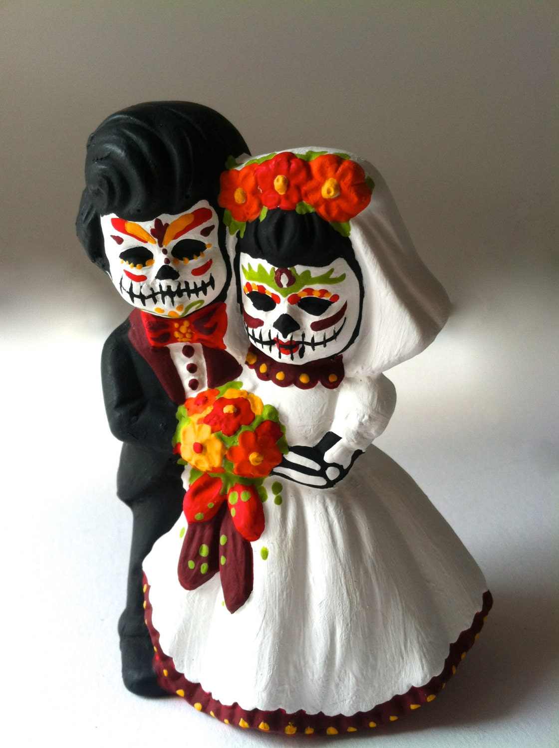 Day of the Dead wedding cake topper dia de los muertos sugar