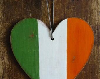 Ireland flag, irish flag, patriotic decor, car decoration, home decoration, hand painted, distressed flag, christmas ornament