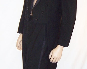 Men's, Palm Beach Formal-Black Tuxedo with Tails