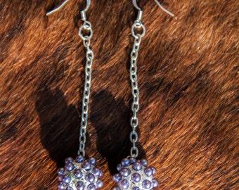 Ball On A Chain Earrings.