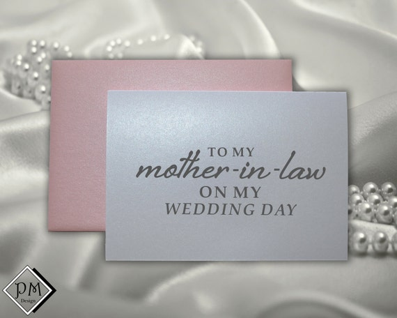 Wedding Gift For Mother In Law: Mother In Law Wedding Card Gifts For Mother-in-law By