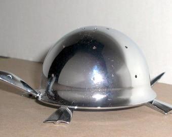 Mid Century Modern Irvinware Chromed Stainless Steel Hors D'Oeuvres Holder Mock Turtle