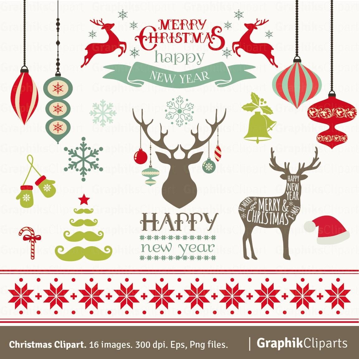 christmas clipart etsy - photo #16