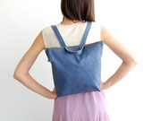 Leather backpack, Blue leather backpack, leather backpack, back to school, backpack for women, back to school