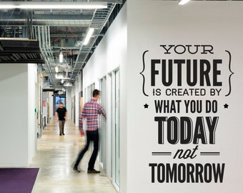 Office wall art corporate office supplies office decor for Office interior design quotes