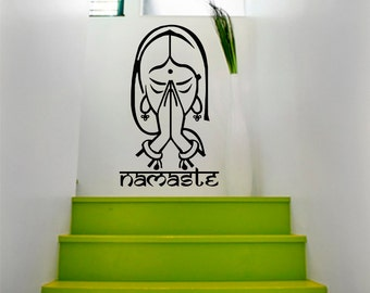 Vinyl Wall Decals Indian Yoga Namaste Decal Sticker Home Decor Art Mural Z645