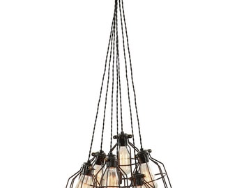 Multi Pendant Light   Modern Pendant Light   Lighting   Cage Chandelier   Pendant  Light