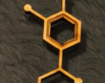 Laser Cut Adrenaline Molecule Necklace