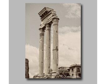 Ruins of Rome photography. Italian prints. Rome Canvas wrap. Art photography. Wall decor. Photo wrap. Ready to hang. Digitally signed.