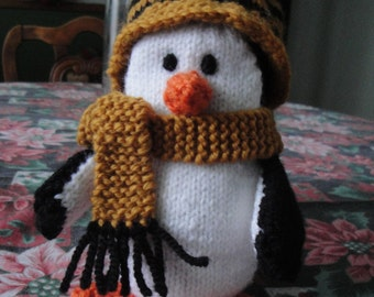 Penguin Hand Knit Soft Toy