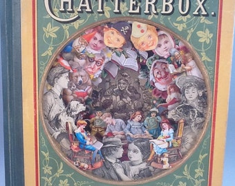 Chatterbox 1905; Altered Art Book; Diorama; Repurposed Book; Antiquarian Children's Book; OOAK