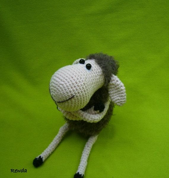 Etsy Amigurumi Sheep : Amigurumi crochet grey sheep by YarntobeHappy on Etsy