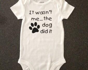 Funny Dog did it bodysuit