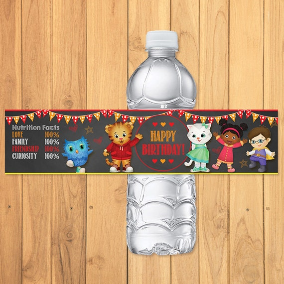Daniel Tiger Drink Labels Chalkboard * Daniel Tiger Birthday * Daniel Tiger Water Bottle Labels * Daniel Tiger Favors