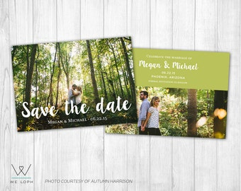 INSTANT DOWNLOAD Save the Date Template - Photoshop Template for Photographers SKU:SD001