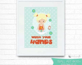 SALE Personal hygiene art print, wall art, bathroom print,art print wall decor, kids printable wall art, home decor, bedroom decor - WA188