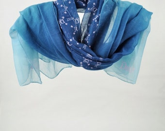 Scarf, Blue Scarf, Women's Scarves, for Woman, Dear, Shawl, Large Scarves, Long Scarf, Fashion Accessories, Gift for Her (VS-03-03)