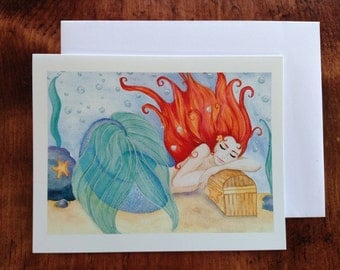 Mermaid Dreams Notecard
