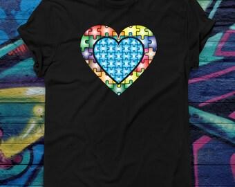 Autism Awareness T-shirt - Autism Puzzle Piece T-shirt -  Autism Awareness Day T-shirt -  Blue Puzzle Piece Shirt
