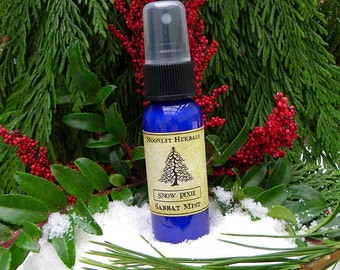Snow Pixie Sabbat Mist - Yule, Midwinter, Winter Solstice, Faerie Magick, Wishes, Celebrate the Return of the Light, Joy, Vanilla Bean Pine