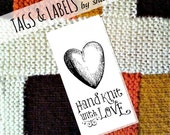 PDF Printable Product Tags or Labels - Hand Knit with Love