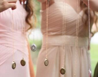Bridesmaid Jewelry 7 Bridesmaid Gift Wedding Jewelry Bridal gift wedding Personalized jewelry Initial locket Necklace