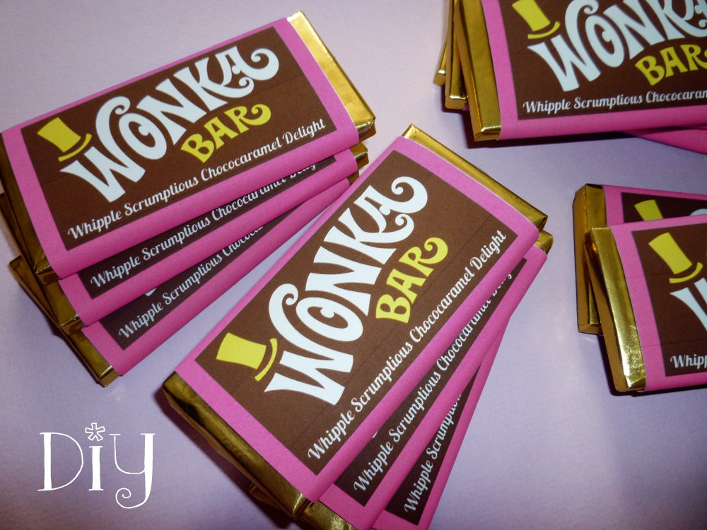 Wonka Bar Wrapper Template Favor Willy