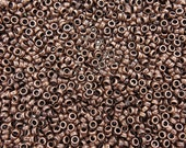 4x2mm (2mm hole) Antique Copper Base Metal Rondel Spacer Beads - Qty 50 (G244)