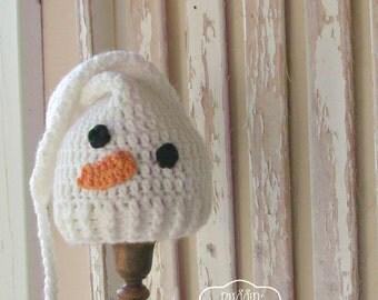 Snowman Baby Hat - Crochet Baby Elf Hat - Crochet Snowman Hat - Baby Snowman Hat - Baby Christmas Hat - Crochet Stocking Hat