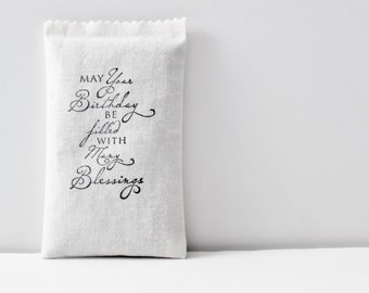 Many Blessings Lavender Sachet, Unique Birthday Gift for Best Friend, Daughter, Sister, Mom, Aunt, Scented Pillow