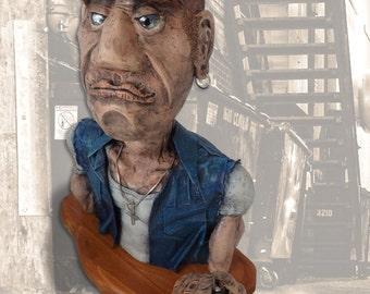 Billy F. Badass III, original mixed-media sculpture by Jett Vincent Bailey
