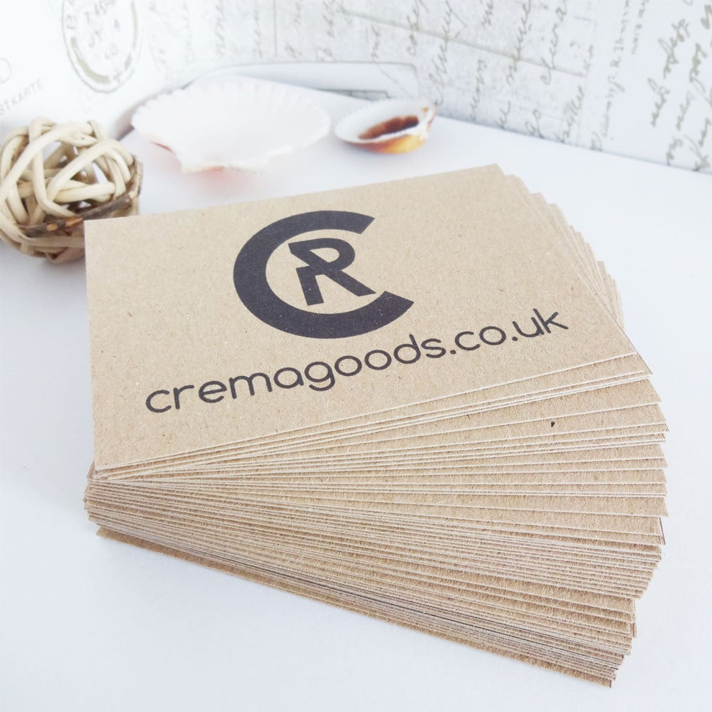 100 Rustic Business Cards Recycled Kraft card eco friendly