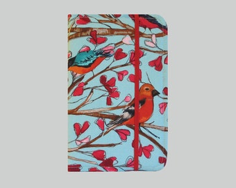 Kindle Cover Hardcover, Kindle Case, eReader, Kobo, Kindle Voyage, Kindle Fire HD 6 7, Kindle Paperwhite, Nook GlowLight Red Bird