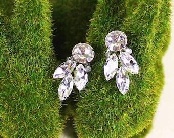 Jolene Bridal Earrings, Bridal Leaf Earrings, Bridal Stud Earrings, Bridal Crystal Leaf Earrings, Wedding Earrings, Bridesmaid Earrings Gift