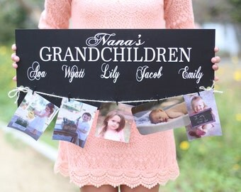 Personalized Grandchildren Sign Mother's Day Christmas Custom Gift