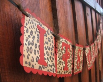 ITu0027S A GIRL   Red U0026 Leopard Banner With Baby Feet   Baby Shower Banner