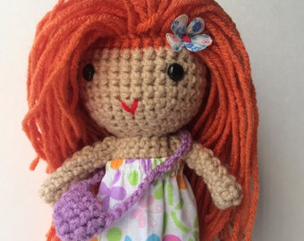 Pretty Copper hair handmade doll