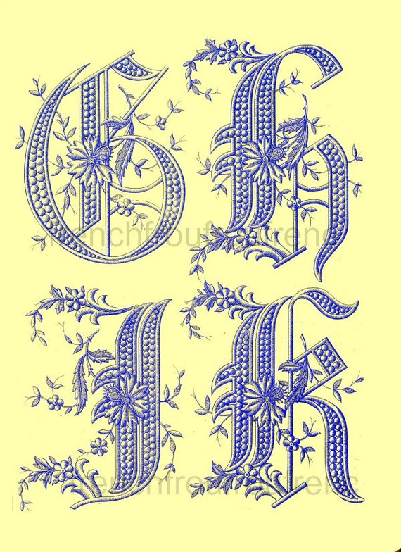 Items similar to antique french victorian alphabet letters